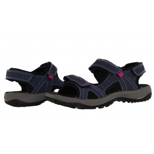 Дамски ортопедични сандали от набук Salamander сини