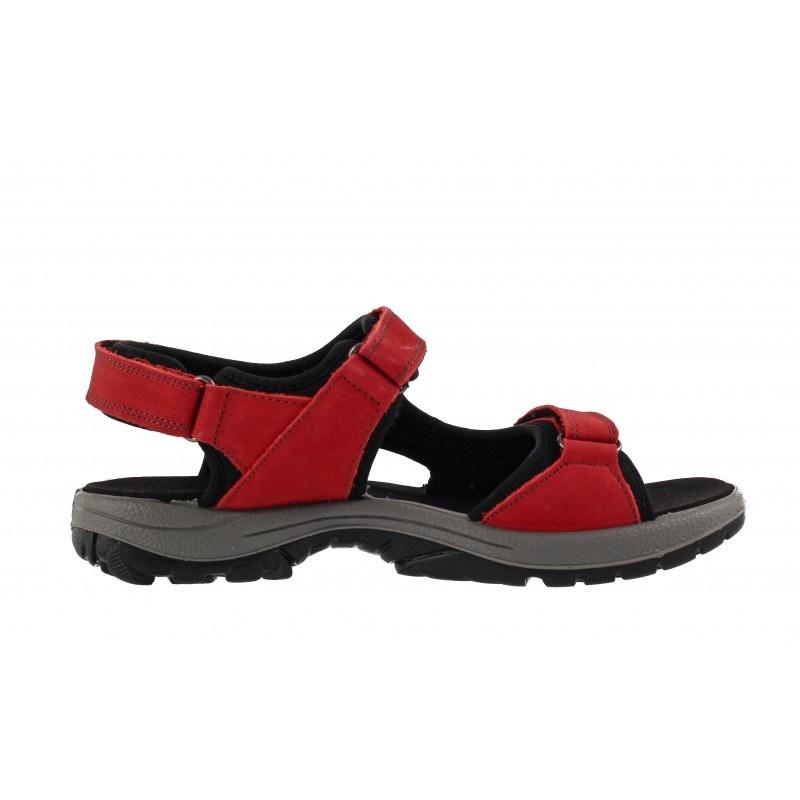 Дамски ортопедични сандали от набук Salamander червени