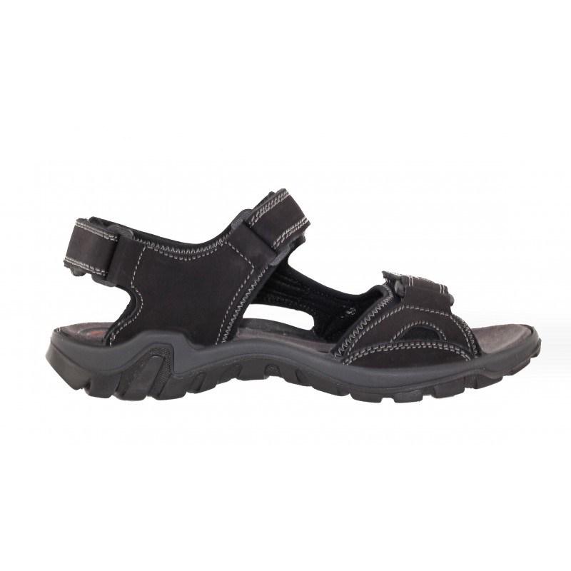 Мъжки спортни сандали от набук Salamander черни