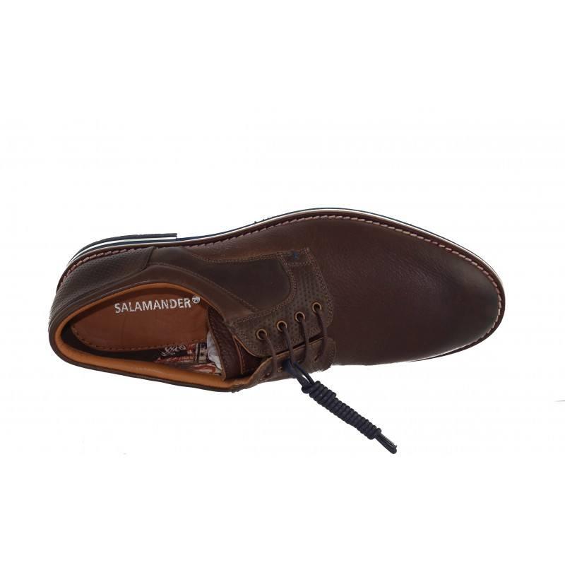 Мъжки обувки от естествена кожа Salamander кафяви