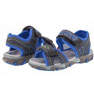 Ортопедични сандали Superfit черни за момче сини 25/35