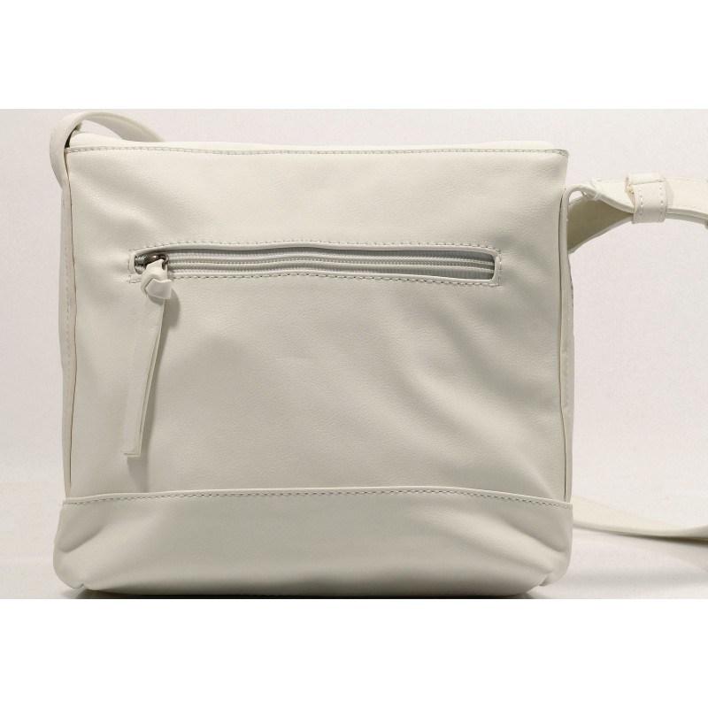 Средна дамска чанта Tamaris бяла. Магазин kompass.bg
