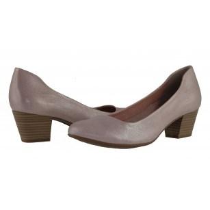 Дамски обувки на среден ток Tamaris розов металик