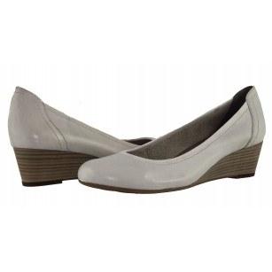 Дамски обувки холандски ток бели Tamaris мемори пяна