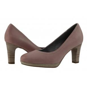 Дамски кожени обувки на ток розови мемори пяна ANTISHOKK®