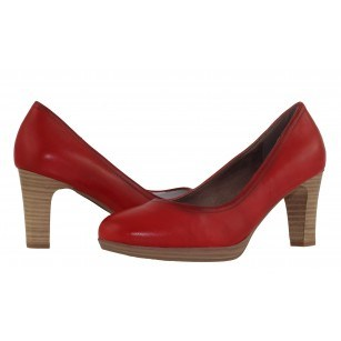 Елегантни дамски обувки на висок ток Tamaris червени