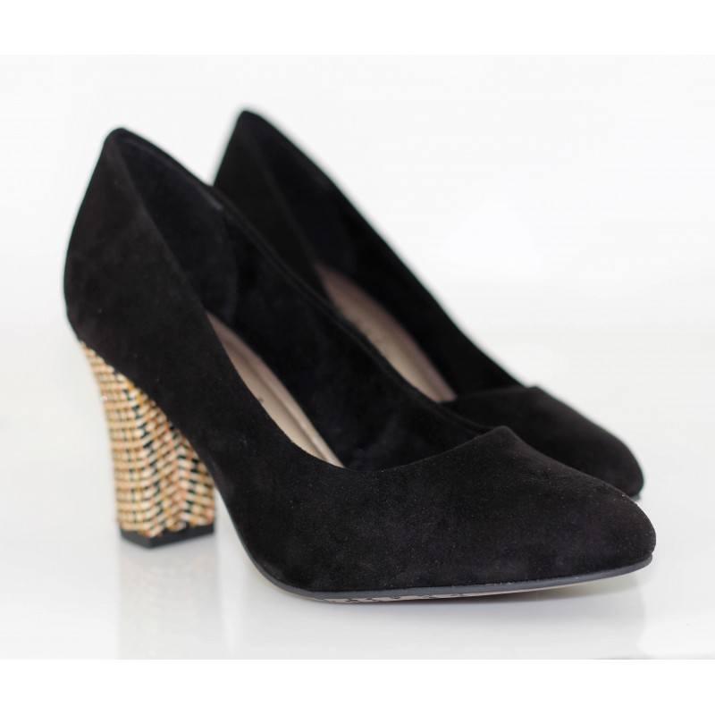 Дамски обувки на висок ток Tamaris черни