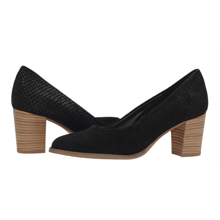 Дамски черни елегантни обувки на ток Tamaris