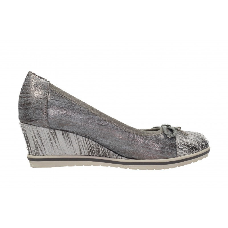 Дамски елегантни обувки на платформа Tamaris сиви. Магазин kompass.bg