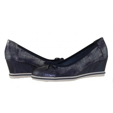 Дамски елегантни обувки на платформа Tamaris сини