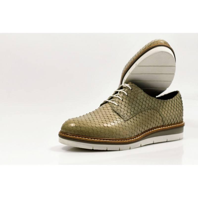 Дамски равни обувки от естествена кожа Tamaris бежови