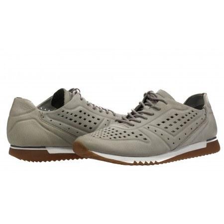 Дамски спортни обувки от естествена кожа с мемори пяна Tamaris сиви