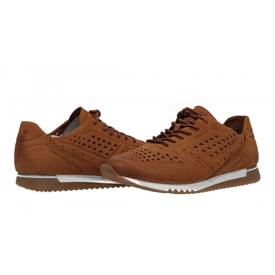 Дамски спортни обувки от естествена кожа с мемори пяна Tamaris кафяви