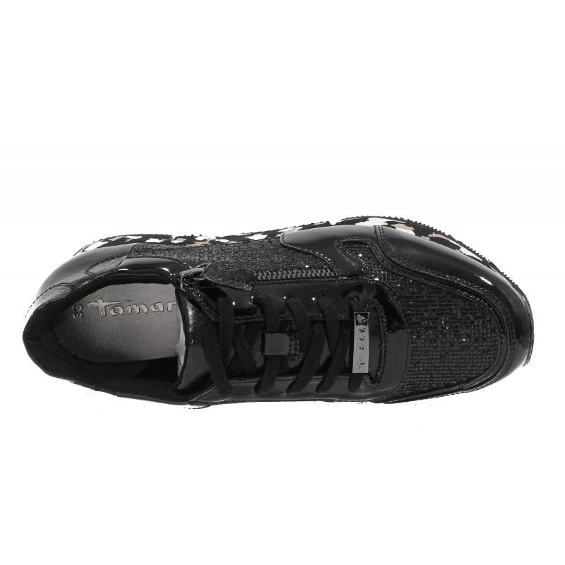Дамски спортни обувки Tamaris черни камуфлаж мемори пяна