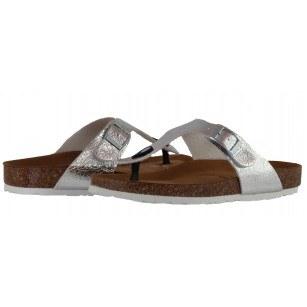 Дамски анатомични чехли с мемори пяна Tamaris сребристи