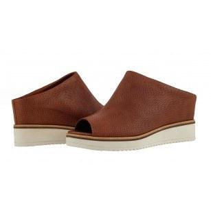 Дамски чехли на платформа Tamaris естествена кожа мемори пяна