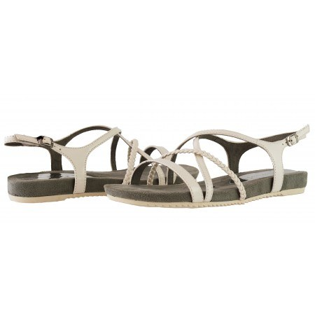 Дамски равни анатомични сандали с мемори пяна Tamaris бели