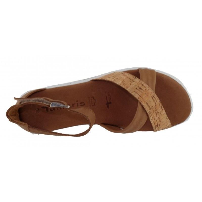 Дамски равни сандали Tamaris кафяви мемори пяна