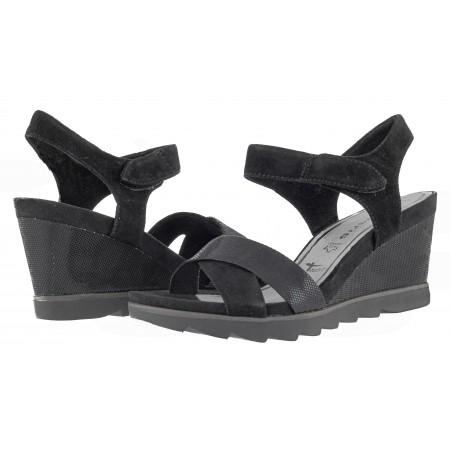 Дамски сандали на платформа Tamaris черни мемори пяна