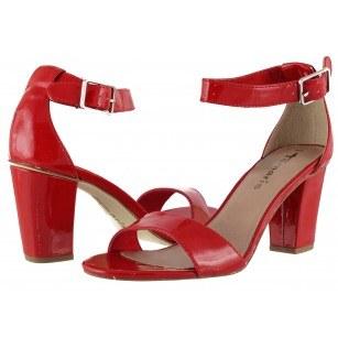 Дамски елегантни сандали на ток Tamaris червен лак