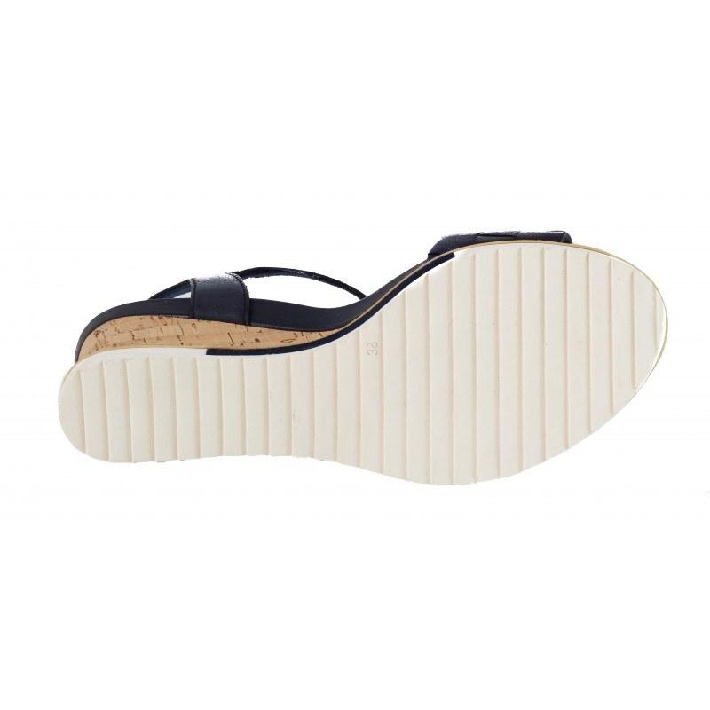 Дамски сандали на платформа Tamaris сини мемори пяна