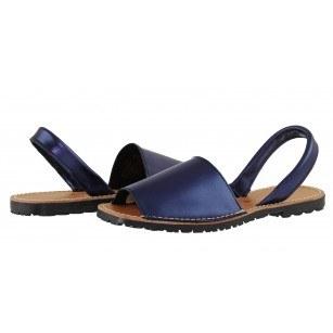 Дамски равни сандали от естествена кожа Tamaris сини