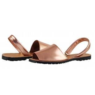 Дамски равни сандали от естествена кожа Tamaris розов/металик