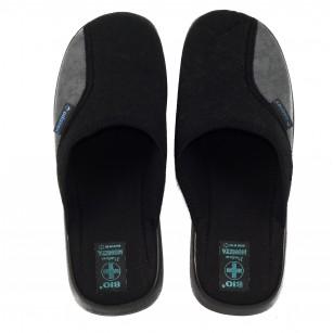 Мъжки домашни чехли Moneta сиво/черни BIO