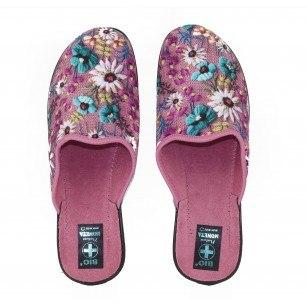 Дамски домашни чехли Moneta розови цветя BIO