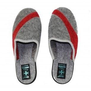 Дамски домашни чехли Moneta вълнени сиви BIO