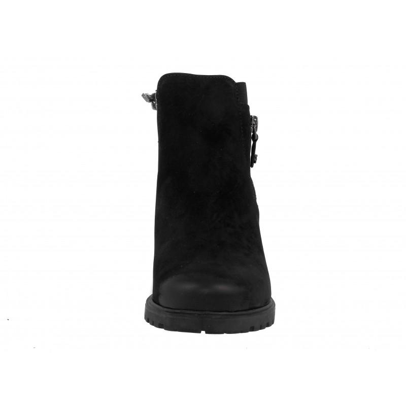 Дамски кожени боти на нисък ток Ara черни