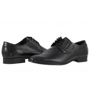 Официални мъжки обувки за широко стъпало Bugatti® естествена кожа