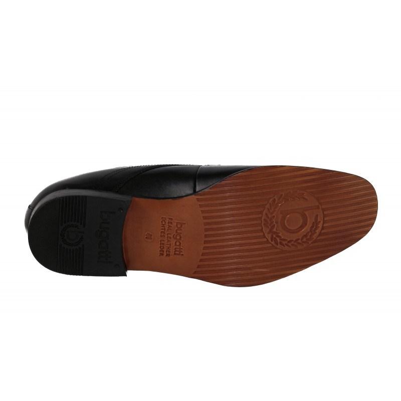 Елегантни мъжки обувки Bugatti® естествен гьон черни