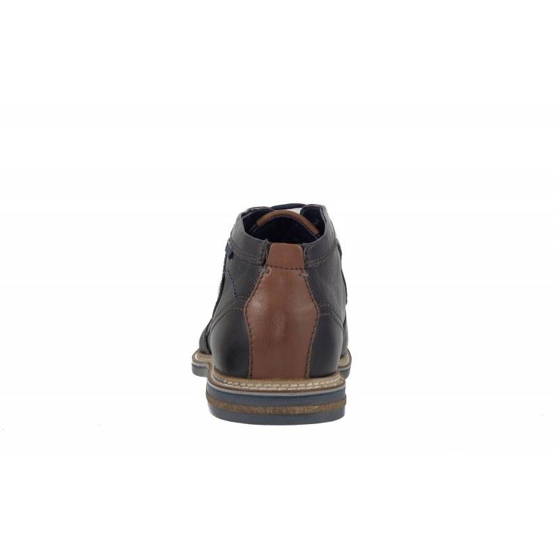 Мъжки кожени полуботи с връзки Bugatti® черни