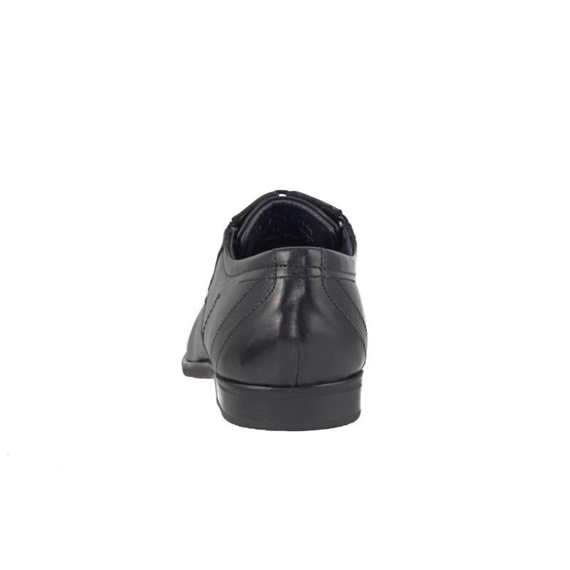 Мъжки обувки с връзки Bugatti® естествена кожа черни