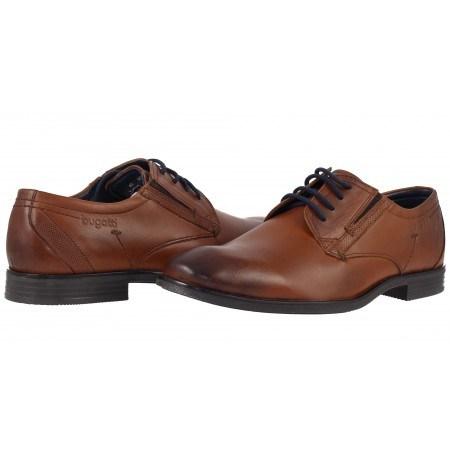 Мъжки обувки с връзки естествена кожа Bugatti® Savio Evo коняк