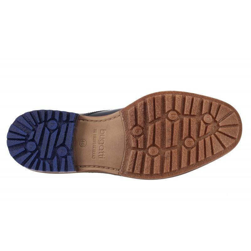 Мъжки боти естествена кожа Bugatti® тъмно сини