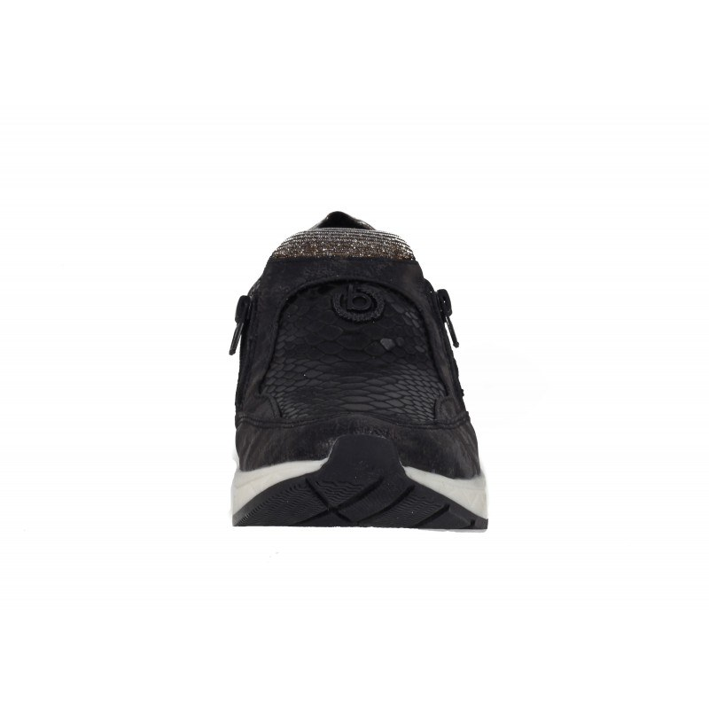 Дамски спортни обувки с цип Bugatti® черни мемори пяна