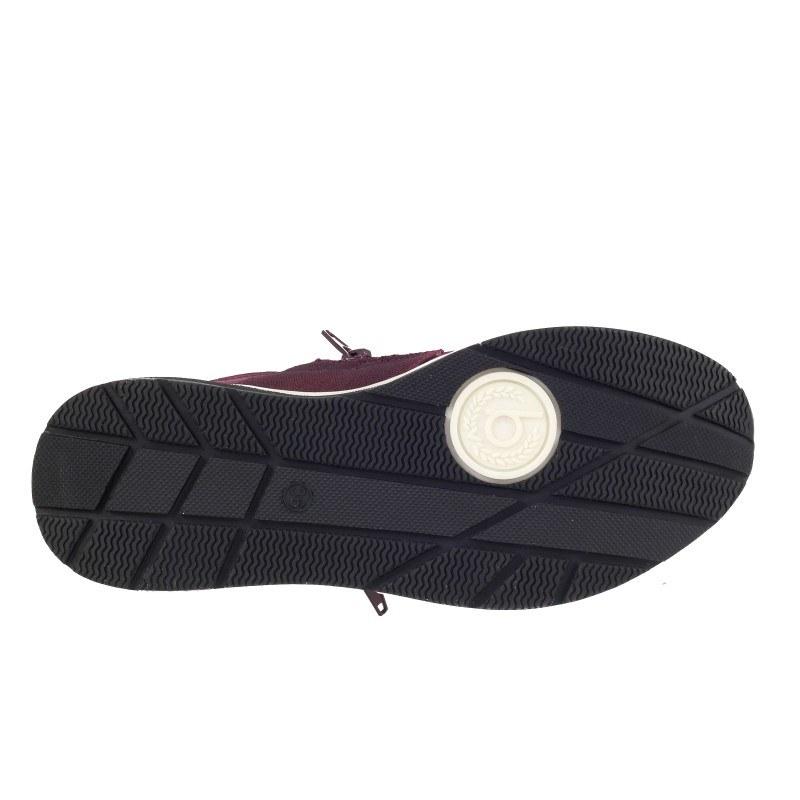 Дамски спортни обувки с цип Bugatti® бордо мемори пяна