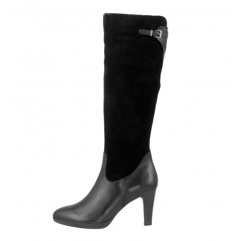 Елегантни дамски ботуши на висок ток Caprice черни XS