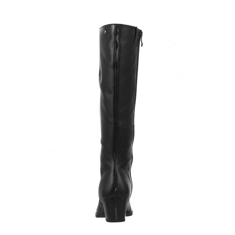 Дамски кожени ботуши на ток Caprice черни XS