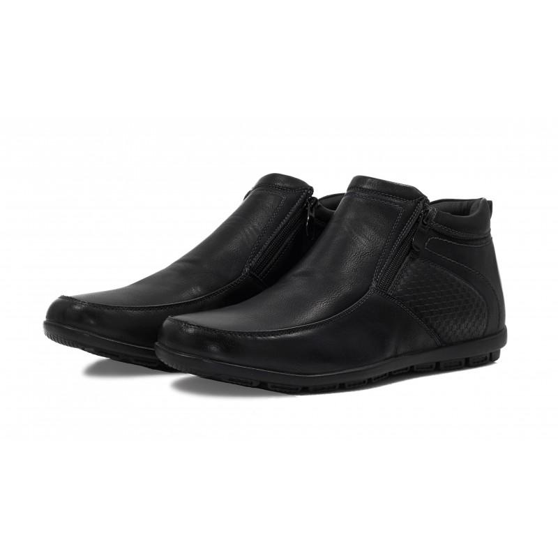 Мъжки ежедневни боти с цип XCESS Черни. Магазин Компас - Немски Обувки