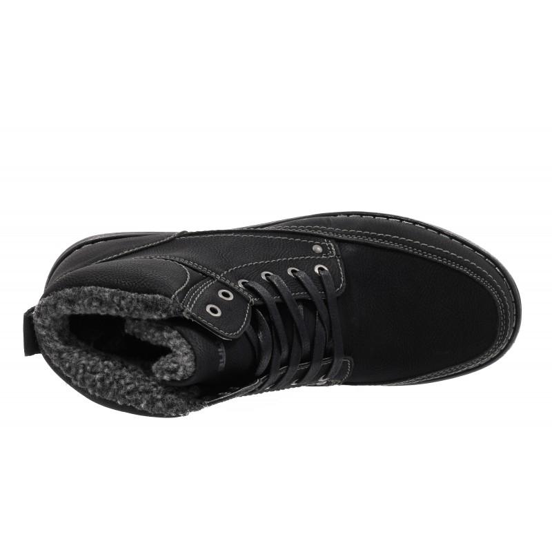 Мъжки ежедневни боти с връзки Bulldozer Черни. Магазин Компас - Немски Обувки