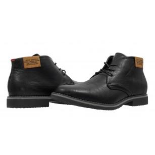 Мъжки елегантни боти с връзки Bulldozer Черни. Магазин Компас - Немски Обувки