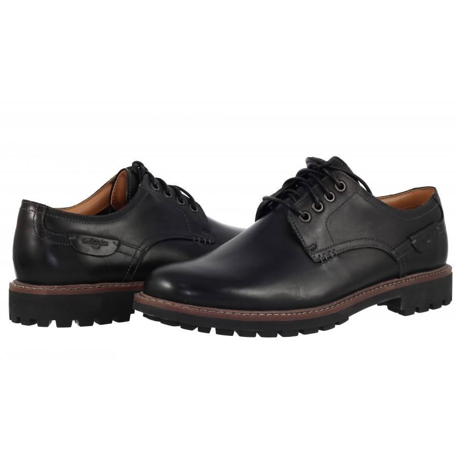Мъжки кожени обувки Clarks Montacute Hall черни
