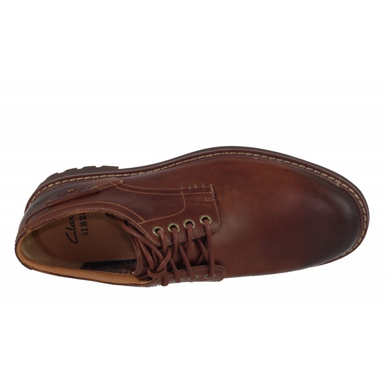 Мъжки кожени обувки Clarks Montacute Hall кафе