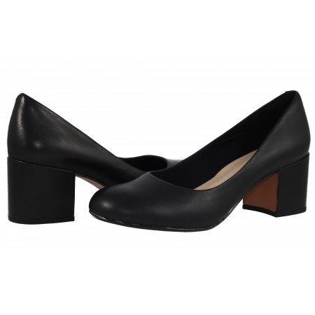 Дамски обувки Clarks Barley Rose естествена кожа на ток черни