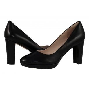 Дамски обувки Clarks Kendra Sienna на висок ток естествена кожа