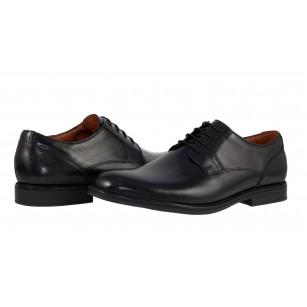 Мъжки официални кожени обувки Clarks Beckfield Walk черни