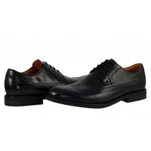 Мъжки официални обувки Clarks BeckfieldLimit от естествена кожа черни